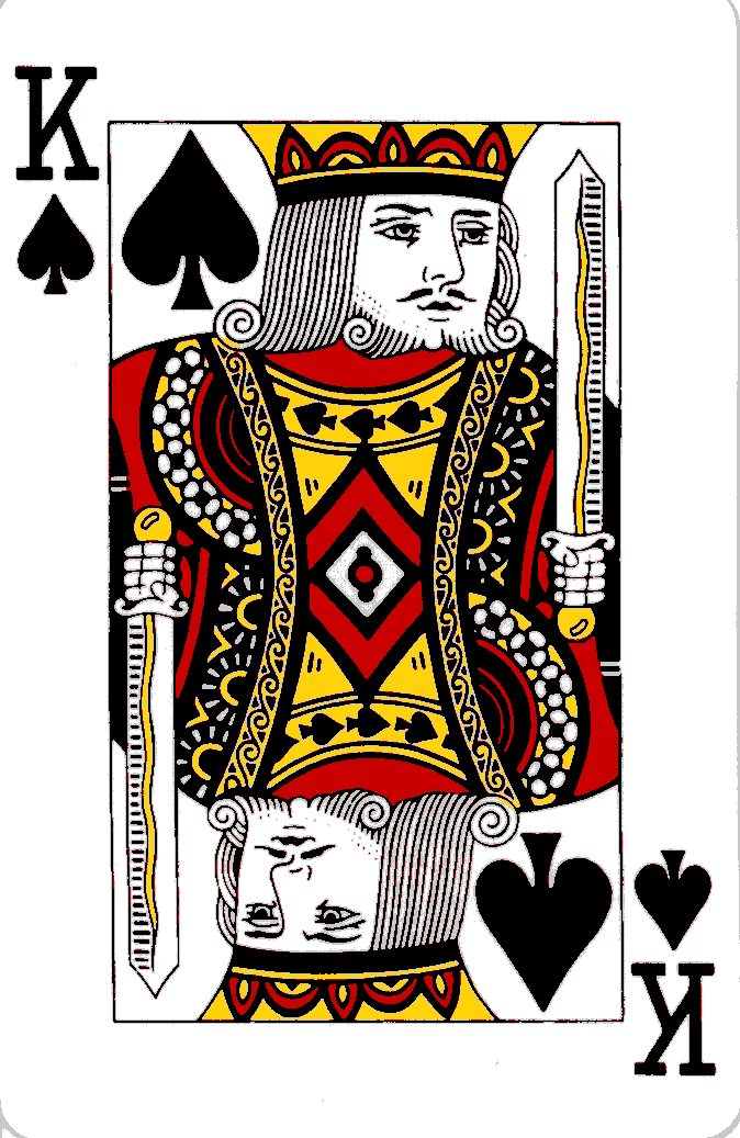 king queen cards