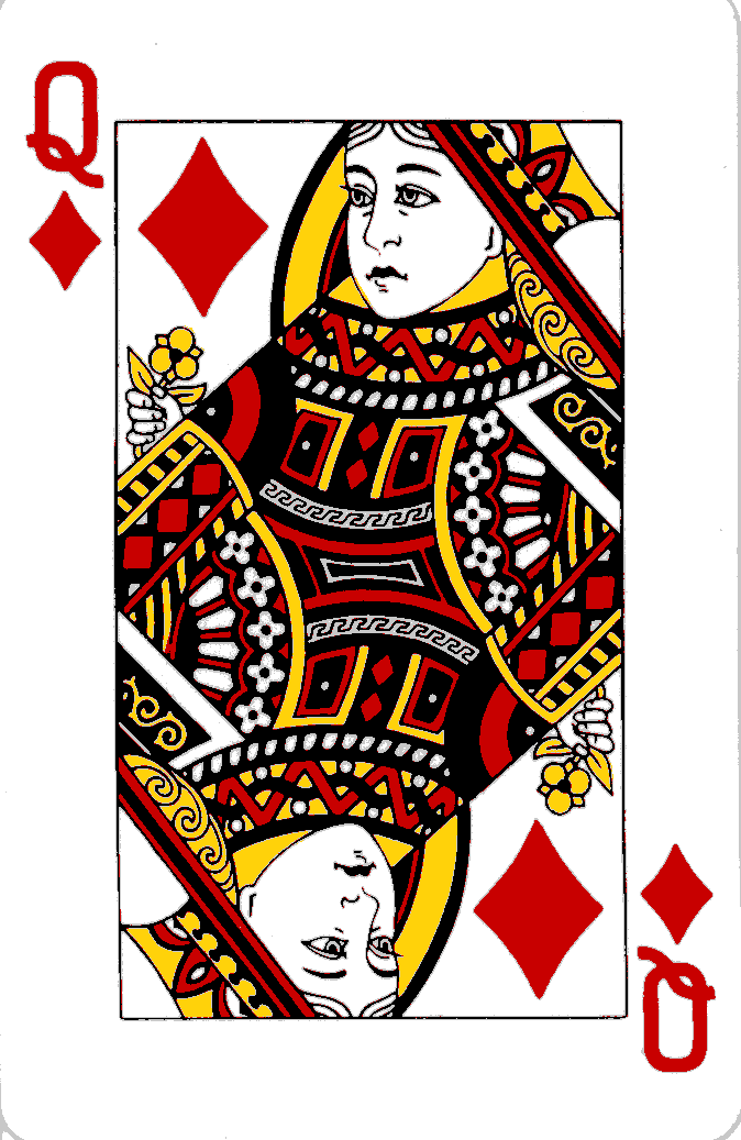 Queen of diamonds (English form)]