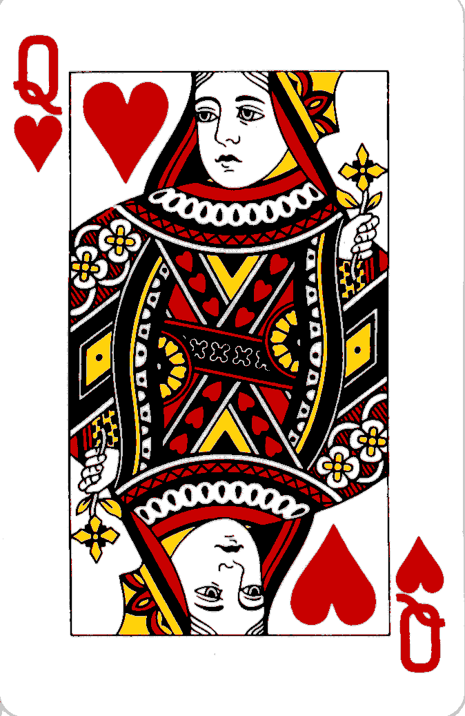 Queen of Hearts Playing Card Template